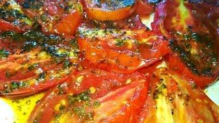 Вяленые помидоры за 30 минут в микроволновке.