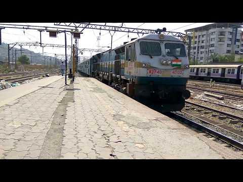 12617 Ernakulam Delhi  H.Nizamuddin Mangala Lakshdweep Express arriving at kalyan