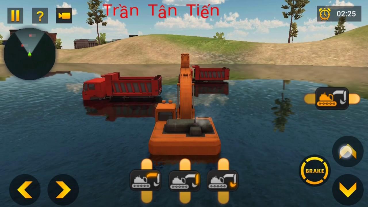 Vui game: game xe ben xe cuốc máy ủi