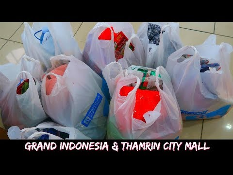Grand Indonesia & Shopping @ Thamrin City Mall Hypermart | Travel Vlog Jakarta, Indonesia