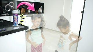 Sıla ve Mirayı Sihirli Baloncuk Makinesi Görünmez Yaptı.Fun Twins