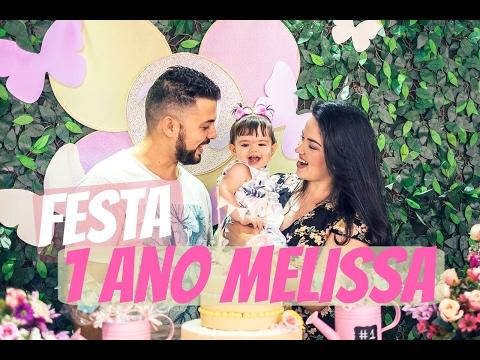 O JARDIM DA MELISSA - A FESTA!!! 1 ANO DE MELISSA  (VLOG PARTE 2)