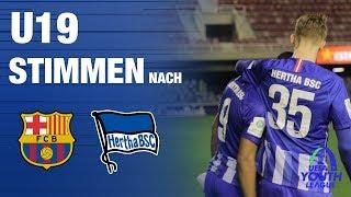 STIMMEN NACH BARCELONA - U19 - UYL - FC BARCELONA - Hertha BSC - 2019