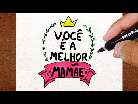 Como Desenhar Cartao Dia Das Maes Voce E A Melhor Mamae Youtube