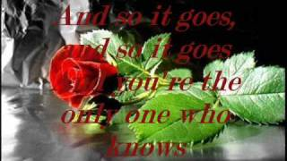 Billy Joel - And so it goes [With Lyrics] ♥