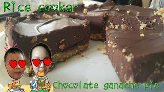 Rice Cooker Silky Chocolate Ganache Pie