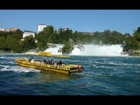 Rhine Falls boat ride - Switzerland - Travel Video