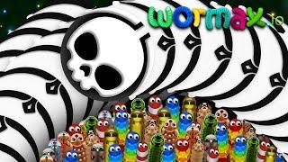 Wormax.io © Giant Troll Snake vs Tiny Snakes Epic Wormaxio Hack World Never Record