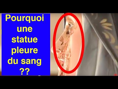 Mais pourquoi ces statues pleurent  du sang ?