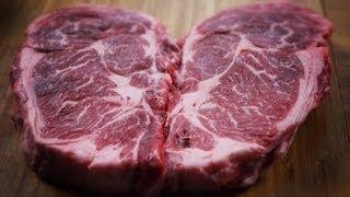 Heart Shaped Rib Eye Steaks For Valentine's Day