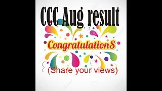 Aug2018 CCC result declared