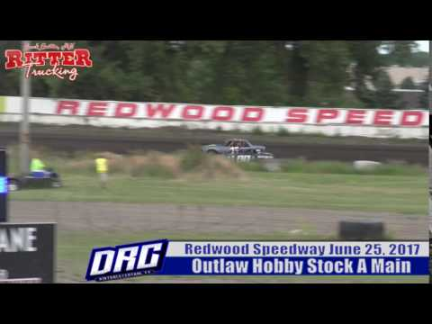 Redwood Speedway 6/25/17 Outlaw Hobby Stock Highlight