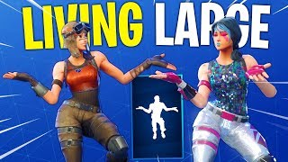 *NEW* Living Large Emote With All Popular Fortnite Skins..!