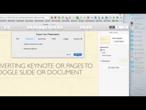 Converting a Keynote to Google Slides Format