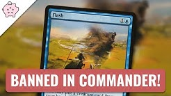 Flash Banned in Commander | EDH | Banning Announcement | Magic the Gathering | Commander