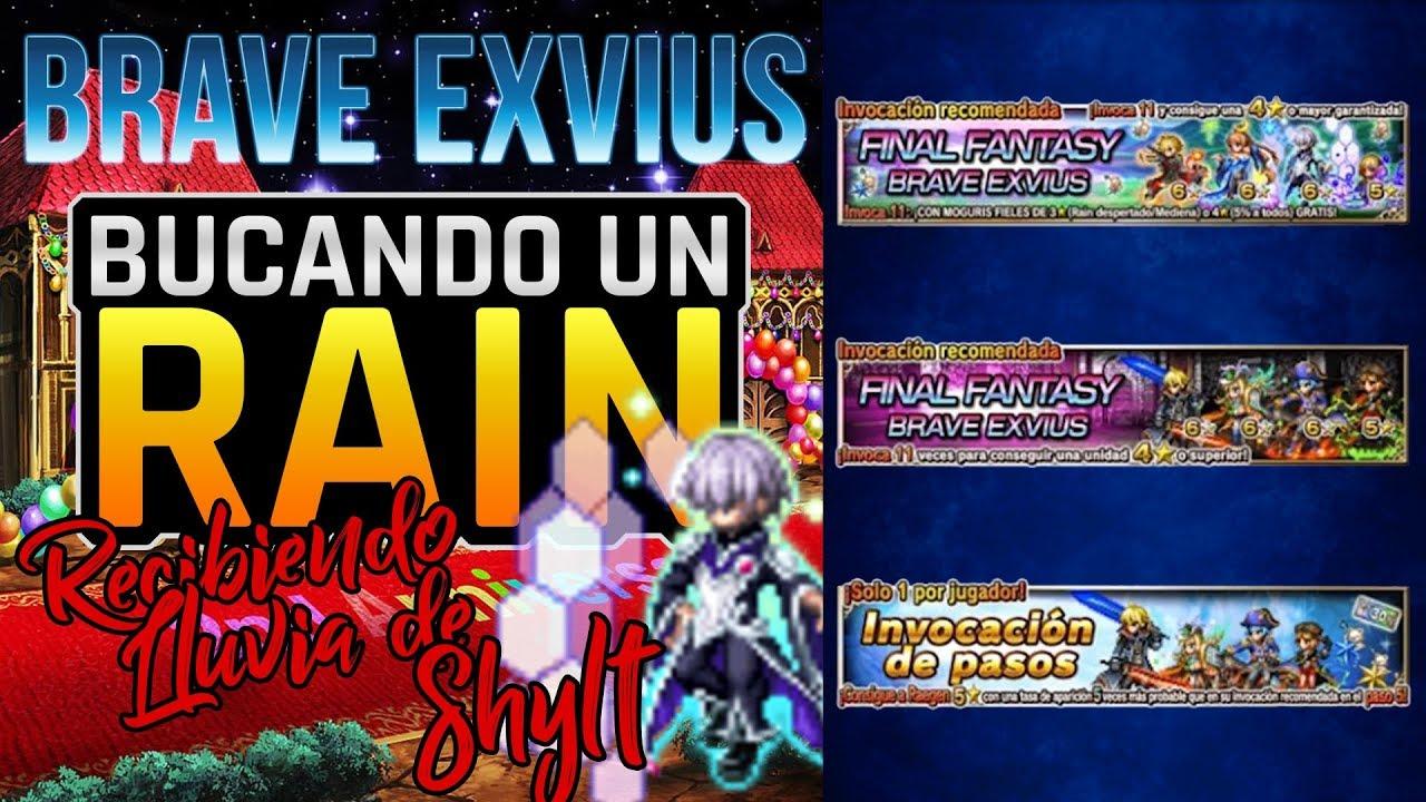 [FFBE] ⚔️ Final Fantasy Brave Exvius | Pulls Buscando A Rain y recibiendo una lluvia de Shylt (SPANISH)