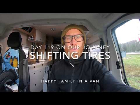 Changing to winter tires VLOG