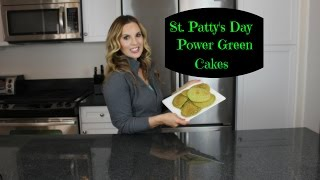 St. Patrick's Day Power Green Cakes