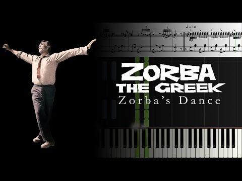 Zorba's Dance [Piano]+[Music Sheet]+[Synthesia]