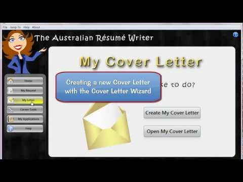 The Australian Résumé Writer:  Cover Letter Wizard