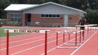 Hurdle Training - Technique, Reaction, Endurance work - 10 over 10 hurdles