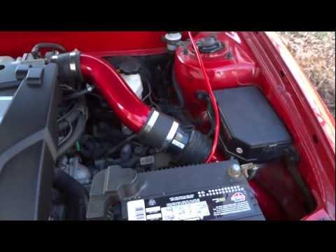 Hyundai Tiburon Gt V6 Cold Air Intake Installed