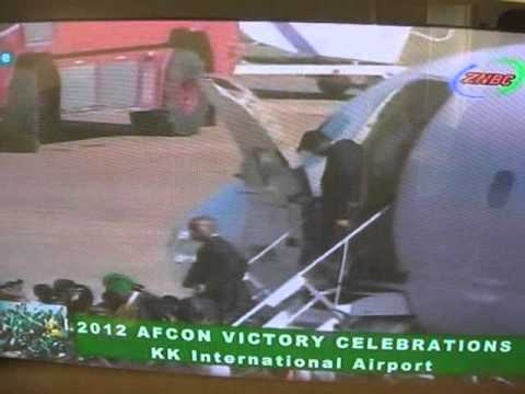 Chipolopolo arrive in Lusaka after winning AFCON 2012