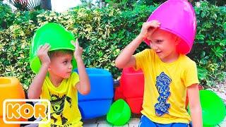 블라드와 니키는 야외 및 실내 게임   아이들을위한 컬렉션 비디오