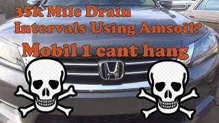 Amsoil 35k mile drain interval Mobil 1 can't do this!