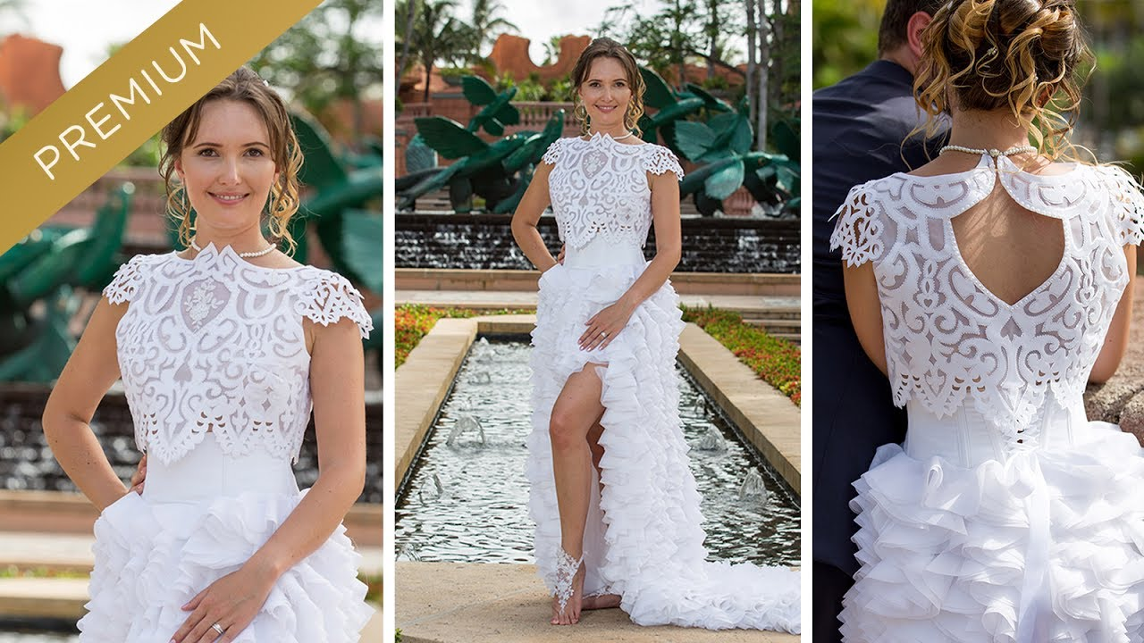 How To Sew A Crop Top Wedding Gown? Two Piece Wedding