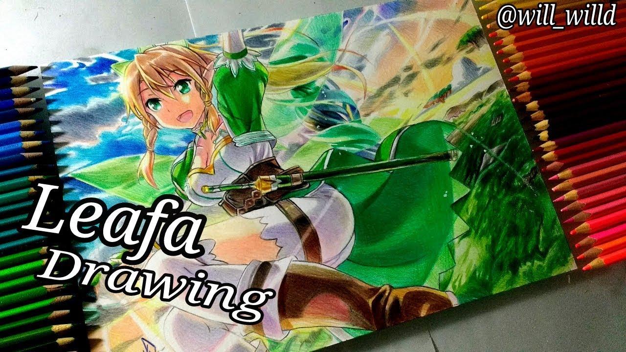 Drawing - Leafa ( Sword Art Online|Afheim Online  ソードアート・オンライン )