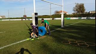 Rugby Donuts placage arriere