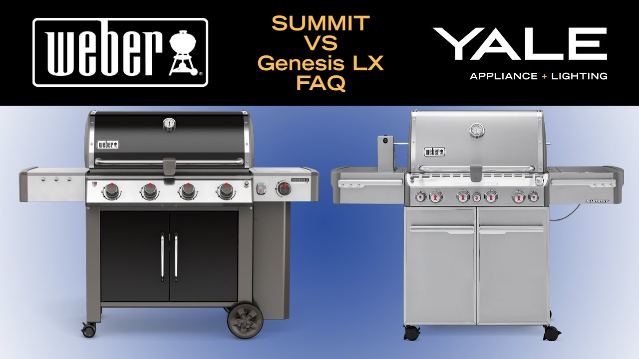 New Weber Genesis II LX vs Summit