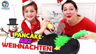 PANCAKE ART - Weihnachts Edition 😍🎅  Geschichten und Spielzeug thumbnail