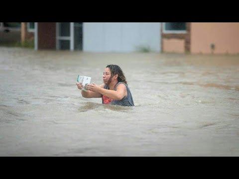 شاهد لقطات مرعبة من غرق سلطنة عمان واليمن بسبب اعصار مكونو 😱 - سبحان الله