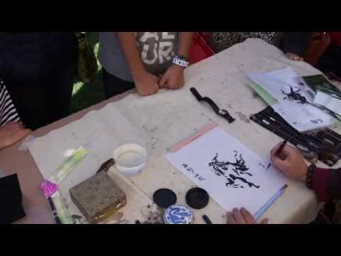 Henry Li doing a Fast Horse Painting with BHA Water Brush Pen A20