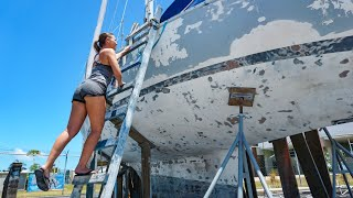 Boat Yard going WAY OVER Budget Sailing GBU