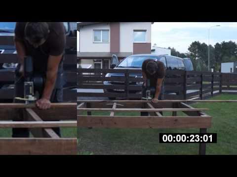 Terasų montavimas automatiniu varžtų suktuku, MDS Terasos