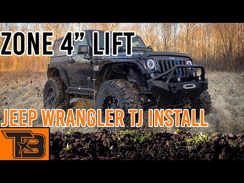 2002 Jeep Wrangler Tj 4 Zone Suspension Lift Install Youtube