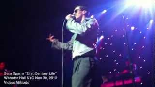 "SAM SPARRO ""21st Century Life"" Webster Hall NYC 2012"