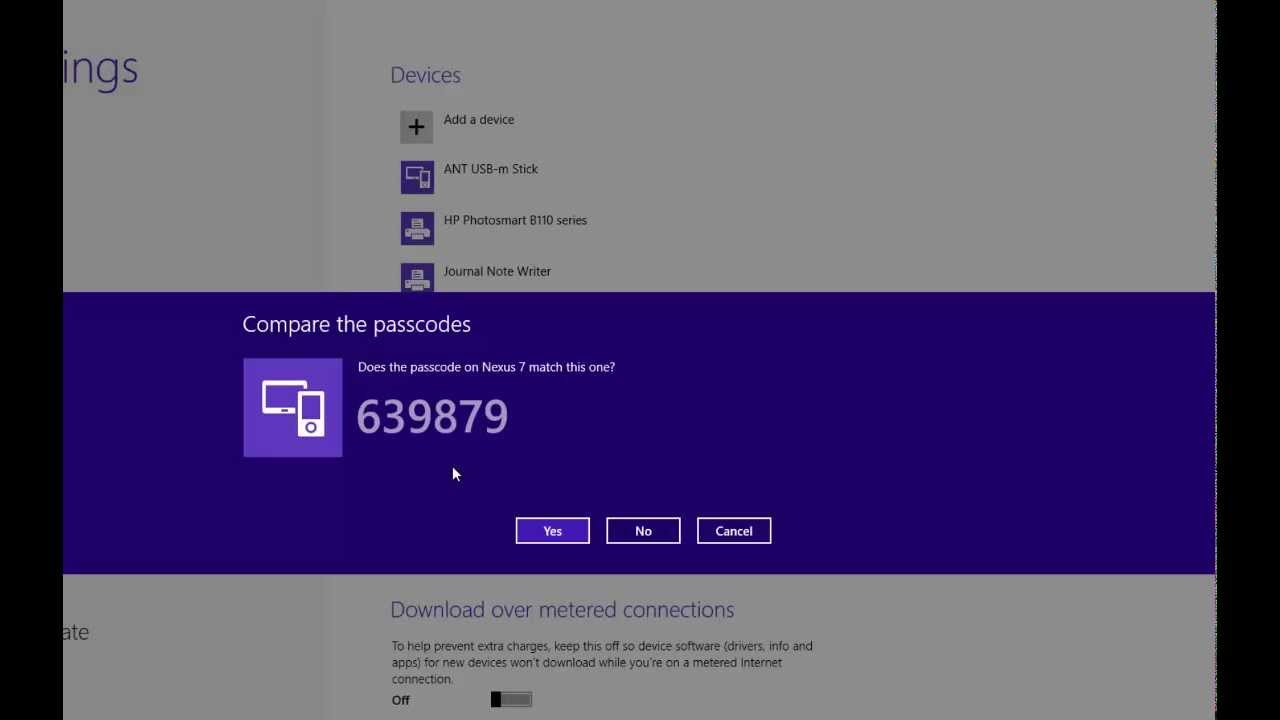 How To Add A Bluetooth Device To Windows 8