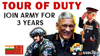 Indian Army Tour of Duty (TOD) | Serve 3 Years In Indian Army | Join Tour of Duty for Citizens