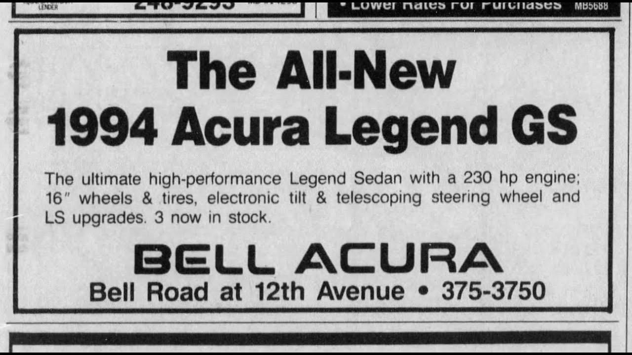 Framing Some Vintage Acura Dealership Newspaper Ads