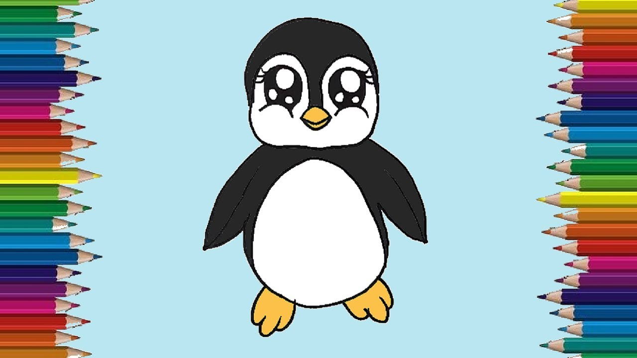 Pin on Penguins |Cute Baby Penguins Drawings