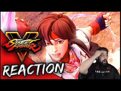 SF5 SAKURA OVER SF4 SAKURA! | Sakura Reveal Trailer Reaction | Street Fighter V AE