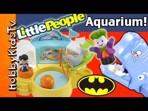 Litte People DOLPHIN Show! Whale + Surprise Toy HobbyKidsTV