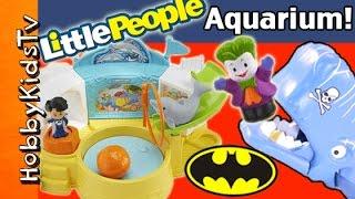 Litte People DOLPHIN Show! Joker EATEN Whale, Batman Imaginext + Surprise Toy HobbyKidsTV
