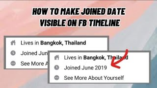 how to make joined date visible on facebook timeline