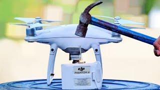 Overcharged Drone Battery - चलो तोड़ के देखते हैं