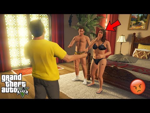 GTA 5 - Michael CAUGHT AMANDA With The Tennis Coach (secret)
